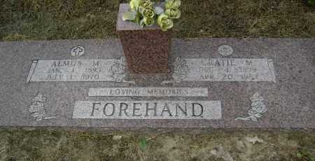 FOREHAND, CRATIE MABEL - Lawrence County, Arkansas | CRATIE MABEL FOREHAND - Arkansas Gravestone Photos