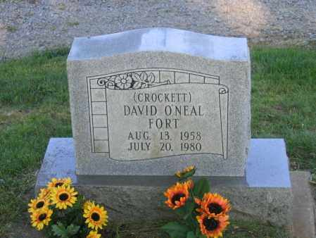 "FORT, DAVID O'NEAL ""CROCKETT"" - Lawrence County, Arkansas 