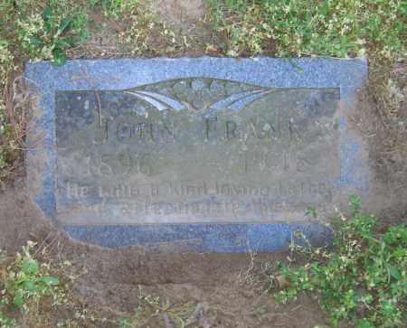 FRANK, JOHN - Lawrence County, Arkansas | JOHN FRANK - Arkansas Gravestone Photos