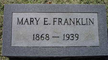 "FRANKLIN, MARY ELIZABETH ""LIZZIE"" - Lawrence County, Arkansas 