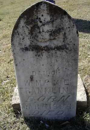FRANKLIN, MATTIE G. - Lawrence County, Arkansas | MATTIE G. FRANKLIN - Arkansas Gravestone Photos