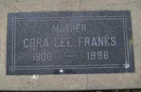 FRANKS, CORA LEE - Lawrence County, Arkansas | CORA LEE FRANKS - Arkansas Gravestone Photos