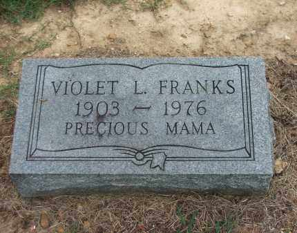 FRANKS, VIOLET L. - Lawrence County, Arkansas | VIOLET L. FRANKS - Arkansas Gravestone Photos
