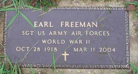 FREEMAN (VETERAN WWII), EARL - Lawrence County, Arkansas | EARL FREEMAN (VETERAN WWII) - Arkansas Gravestone Photos