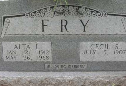 FRY, CECIL S. - Lawrence County, Arkansas | CECIL S. FRY - Arkansas Gravestone Photos