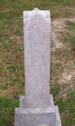 "FRY, OLIN E ""O.E"" - Lawrence County, Arkansas | OLIN E ""O.E"" FRY - Arkansas Gravestone Photos"