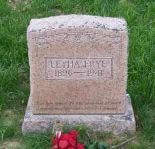FRYE, LETHA - Lawrence County, Arkansas   LETHA FRYE - Arkansas Gravestone Photos
