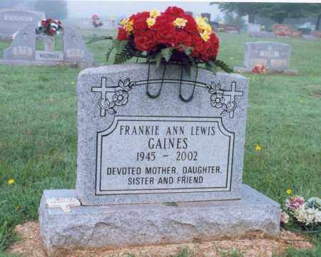 LEWIS GAINES, FRANKIE ANN - Lawrence County, Arkansas | FRANKIE ANN LEWIS GAINES - Arkansas Gravestone Photos