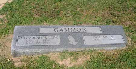 MELTON GAMMON, FREECY AGNES - Lawrence County, Arkansas | FREECY AGNES MELTON GAMMON - Arkansas Gravestone Photos