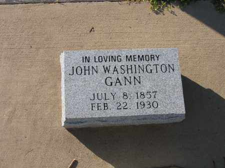 GANN, JOHN WASHINGTON - Lawrence County, Arkansas | JOHN WASHINGTON GANN - Arkansas Gravestone Photos
