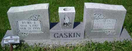 GASKIN, RUBY E. - Lawrence County, Arkansas | RUBY E. GASKIN - Arkansas Gravestone Photos
