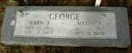 GEORGE, IVARN F. - Lawrence County, Arkansas | IVARN F. GEORGE - Arkansas Gravestone Photos