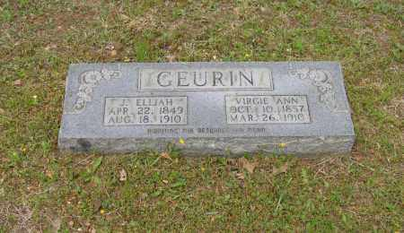 "GEURIN, VIRGINIA ANN ""VIRGIE"" - Lawrence County, Arkansas 