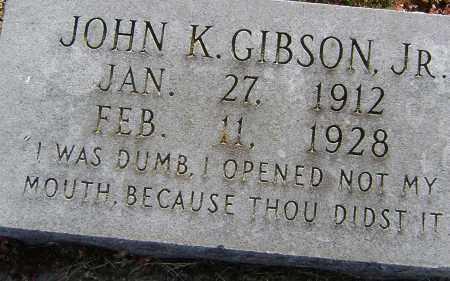 GIBSON, JR, JOHN K. - Lawrence County, Arkansas   JOHN K. GIBSON, JR - Arkansas Gravestone Photos