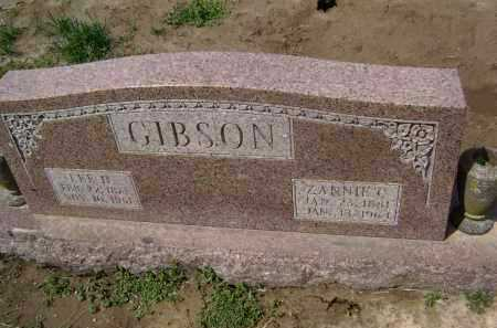 GIBSON, ZANNIE C - Lawrence County, Arkansas | ZANNIE C GIBSON - Arkansas Gravestone Photos