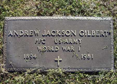 GILBERT, SR. (VETERAN WWI), ANDREW JACKSON - Lawrence County, Arkansas | ANDREW JACKSON GILBERT, SR. (VETERAN WWI) - Arkansas Gravestone Photos