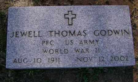 GODWIN (VETERAN WWII), JEWELL THOMAS - Lawrence County, Arkansas | JEWELL THOMAS GODWIN (VETERAN WWII) - Arkansas Gravestone Photos