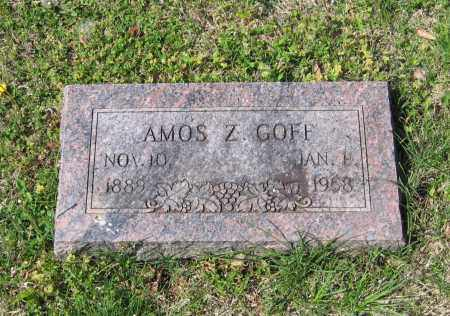 GOFF, AMOS ZACHARIAH - Lawrence County, Arkansas | AMOS ZACHARIAH GOFF - Arkansas Gravestone Photos