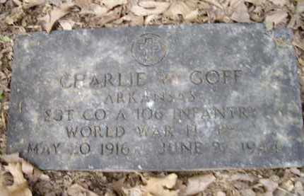 "GOFF (VETERAN WWII), CHARLES W. ""CHARLIE"" - Lawrence County, Arkansas 