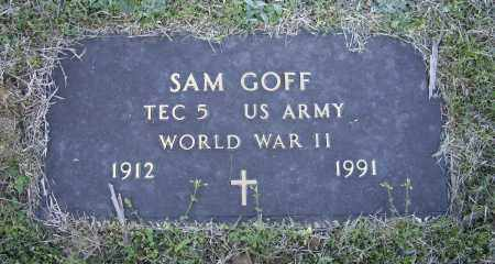 GOFF (VETERAN WWII), SAM - Lawrence County, Arkansas | SAM GOFF (VETERAN WWII) - Arkansas Gravestone Photos