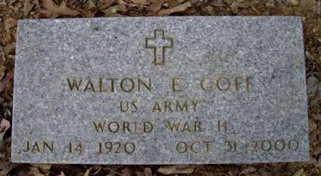 GOFF (VETERAN WWII), WALTON ESSRO - Lawrence County, Arkansas | WALTON ESSRO GOFF (VETERAN WWII) - Arkansas Gravestone Photos