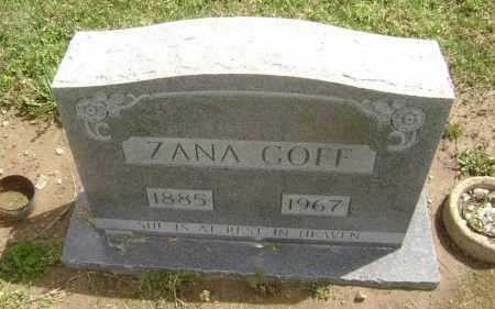 GOFF, ZANA ROSETTA - Lawrence County, Arkansas | ZANA ROSETTA GOFF - Arkansas Gravestone Photos