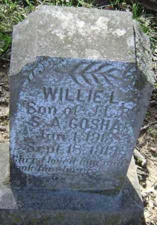 GOSHA, WILLIE L. - Lawrence County, Arkansas | WILLIE L. GOSHA - Arkansas Gravestone Photos