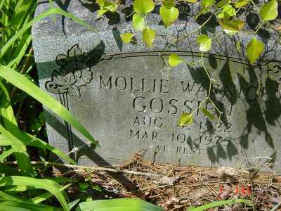 GOSSIEN, MOLLIE - Lawrence County, Arkansas | MOLLIE GOSSIEN - Arkansas Gravestone Photos
