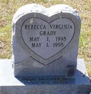 GRADY, REBECCA VIRGINIA - Lawrence County, Arkansas | REBECCA VIRGINIA GRADY - Arkansas Gravestone Photos