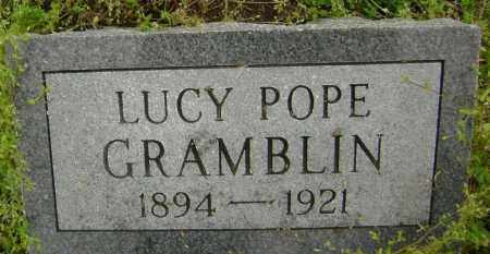 POPE GRAMBLIN, LUCY - Lawrence County, Arkansas | LUCY POPE GRAMBLIN - Arkansas Gravestone Photos