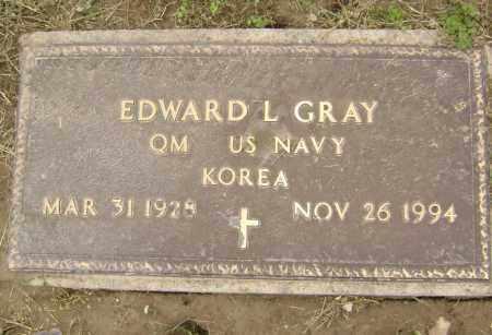 GRAY  (VETERAN KOR), EDWARD L. - Lawrence County, Arkansas | EDWARD L. GRAY  (VETERAN KOR) - Arkansas Gravestone Photos