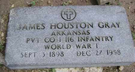 GRAY  (VETERAN WWI), JAMES HOUSTON - Lawrence County, Arkansas | JAMES HOUSTON GRAY  (VETERAN WWI) - Arkansas Gravestone Photos