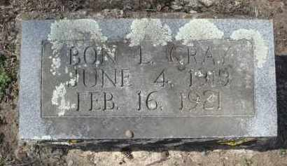 GRAY, BON L. - Lawrence County, Arkansas | BON L. GRAY - Arkansas Gravestone Photos