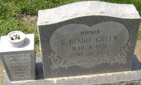 GREEN, E. BESSIE - Lawrence County, Arkansas | E. BESSIE GREEN - Arkansas Gravestone Photos