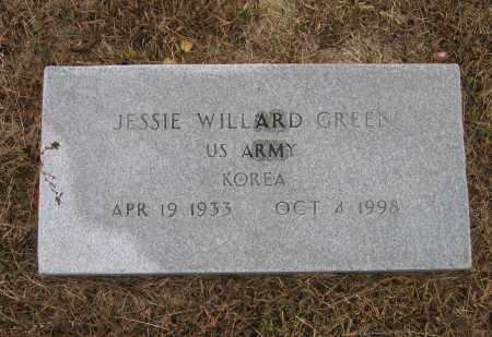 GREEN (VETERAN KOR), JESSIE WILLARD - Lawrence County, Arkansas | JESSIE WILLARD GREEN (VETERAN KOR) - Arkansas Gravestone Photos