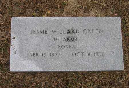 GREEN (VETERAN KOR), JESSIE WILLARD - Lawrence County, Arkansas | JESSIE WILLARD GREEN (VETERAN KOR) - Arkansas Gravestone Photos