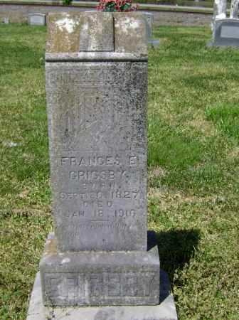 GRIGSBY, FRANCES E. - Lawrence County, Arkansas | FRANCES E. GRIGSBY - Arkansas Gravestone Photos