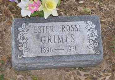 ROSS GRIMES, ESTER - Lawrence County, Arkansas | ESTER ROSS GRIMES - Arkansas Gravestone Photos