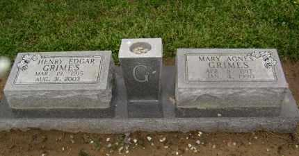 GRIMES, MARY AGNES - Lawrence County, Arkansas | MARY AGNES GRIMES - Arkansas Gravestone Photos
