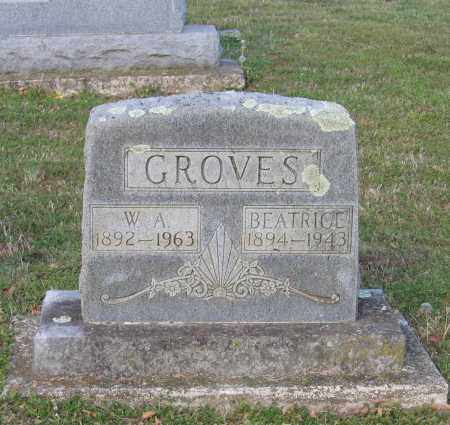 GROVES, BEATRICE - Lawrence County, Arkansas | BEATRICE GROVES - Arkansas Gravestone Photos