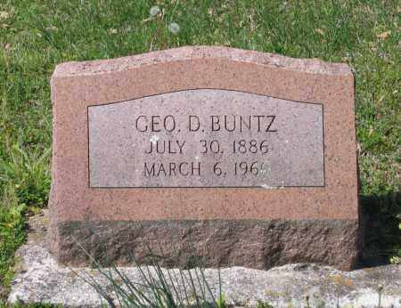 BUNTZ, GEORGE DELBERT - Lawrence County, Arkansas | GEORGE DELBERT BUNTZ - Arkansas Gravestone Photos