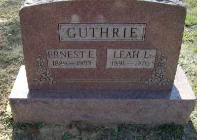 RICHARDSON GUTHRIE, LEAH LEVENIA - Lawrence County, Arkansas | LEAH LEVENIA RICHARDSON GUTHRIE - Arkansas Gravestone Photos
