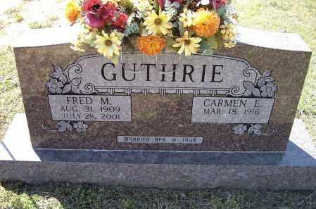 GUTHRIE, FRED M. - Lawrence County, Arkansas | FRED M. GUTHRIE - Arkansas Gravestone Photos