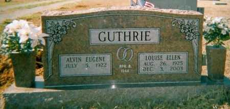 GUTHRIE, ALVIN EUGENE - Lawrence County, Arkansas | ALVIN EUGENE GUTHRIE - Arkansas Gravestone Photos