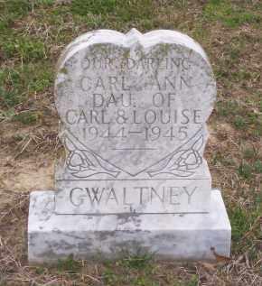 GWALTNEY, CARL ANN - Lawrence County, Arkansas | CARL ANN GWALTNEY - Arkansas Gravestone Photos
