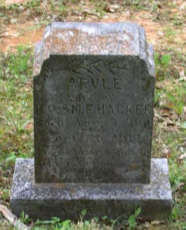 HACKER, ARVLE - Lawrence County, Arkansas | ARVLE HACKER - Arkansas Gravestone Photos
