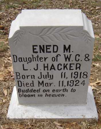 HACKER, ENED MARGARET - Lawrence County, Arkansas | ENED MARGARET HACKER - Arkansas Gravestone Photos