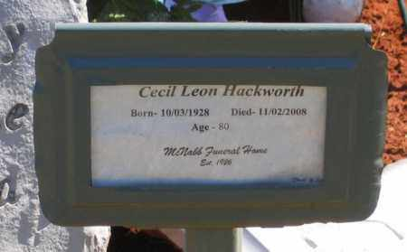 "HACKWORTH, CECIL LEON ""CAPN' HACK"" - Lawrence County, Arkansas 