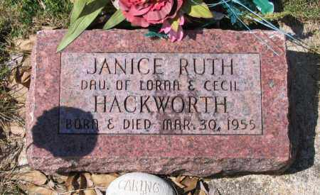 HACKWORTH, JANICE RUTH - Lawrence County, Arkansas | JANICE RUTH HACKWORTH - Arkansas Gravestone Photos