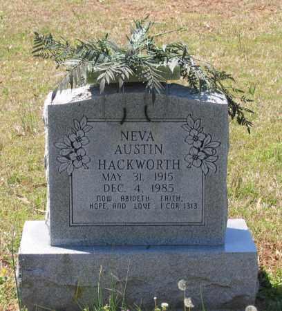 AUSTIN HACKWORTH, NEVA - Lawrence County, Arkansas | NEVA AUSTIN HACKWORTH - Arkansas Gravestone Photos